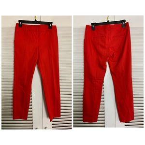 Express Columnist 2R Red sleek capris pants